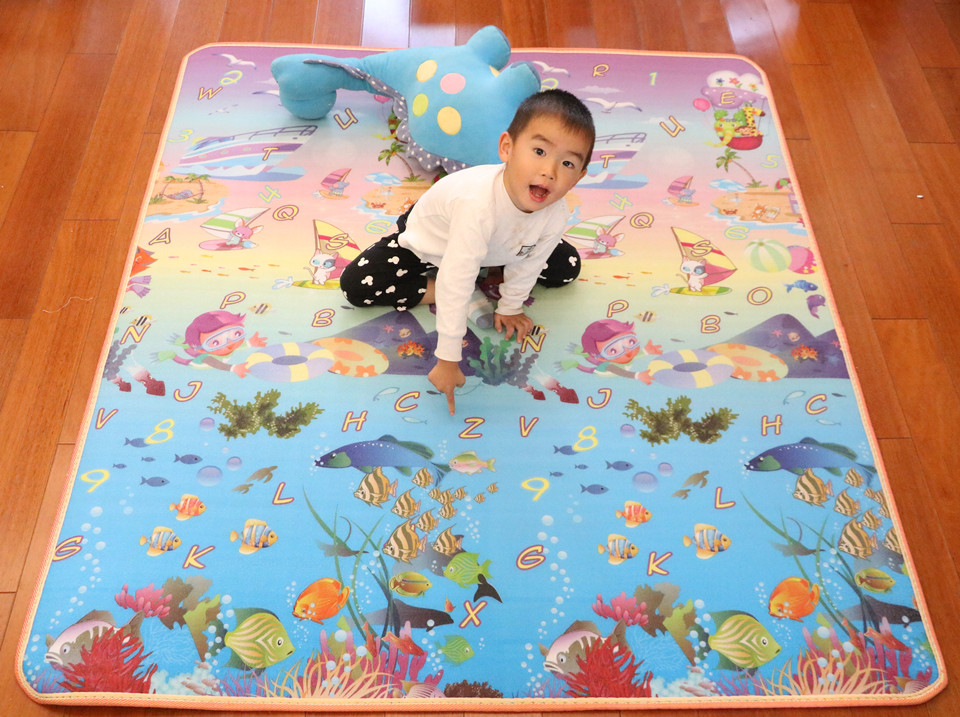 10 mm Thick Double Sides Children Play Mat Waterproof Kids Beach Picnic Mat Soft Eva Foam Carpet Rug Baby Crawling Mat Baby Toy 52