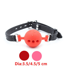 Buy Silicone Mouth Plug Ball Gag Bondage Slave Lockable Restraints Belt Fetish Adult Games Couples Toys Sex Products Women Men
