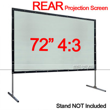 Cheaper Price 72 Inches 4:3 Rear Portable Foldable Projection Screen for Office Home Film Projector Beamer without Fixed Frame