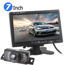 7 Inch RGB Car Rearview Monitor Digital Display Car VCR Monitor + 120 Degree Wide Angle 7 IR Lights Car Rear View Reverse Camera