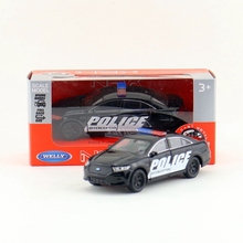 Free Shipping/Welly /Ford Police Interceptor Super/Educational Model/Pull back Diecast Metal toy car/Gift/For collection