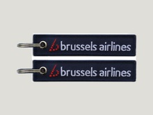Brussels Airlines SN Formerly Sabena Fabric Embroidery Keyring Tag Keychain For Pilots Crew Staff