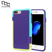 Mundulea Thicken Hybrid Impact 3 Color Shockproof Rugged for iphone 7 Case Anti-slip Cover for iphone 7 Plus Card holder Slots