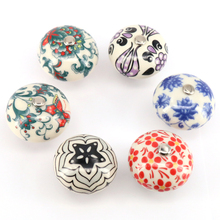 Multi color Decorative Designed Ceramic Cupboard Cabinet Door Knobs Drawer Pulls Kitchen Pull Knob Furniture Hardware(China)