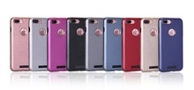 For iphone 4 4S 5 5s SE 6 6S PLUS 7 7 PLUS Brushed Style Hybrid 2 in 1 Coating Hard PC Panel Case with Soft TPU Back Cover