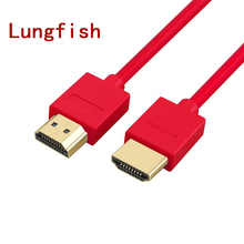 Lungfish HDMI Cable High speed and Flexible Ethernet, Audio Return 1080p For HD TV, DVD Blu-ray Players, XBox one Computer, PS3(China)