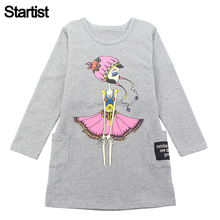 Startist Girls Dress Cartoon Spring Autumn Princess Party Dress For Girls Teenage Kids Girls Clothes 6 8 10 12 Year(China)