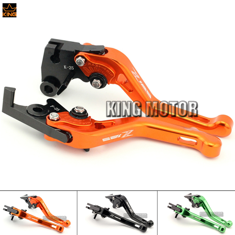 For KAWASAKI Z 125 Z125 2017 Motorcycle Accessories CNC Aluminum Adjustable Short Brake Clutch Levers Orange<br><br>Aliexpress