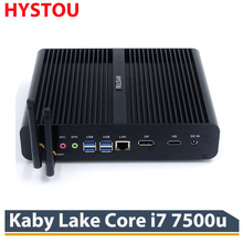 7th Kaby Lake Core i7 7500U HYSTOU Fanless Mini PC Intel HD Graphics 620 Windows 10 Silent Mini Desktop PC 4K Ultra HD HTPC HDMI(China)