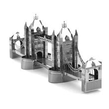 Top Quality Metallic Steel For Nano New Stylish Intelligence 3D  Tower Bridge Educational Jigsaw Puzzle Model Toy Gift For Kid