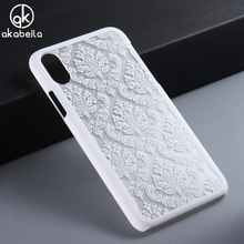 "Buy Cell Phone Shell Protective Cover Case Apple iPhone 8 iPhone8 5.1"" Hard Plastic Floral Hollow Design Back Covers White for $1.98 in AliExpress store"