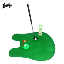 Mini Golf club sport toys Set Potty Putter Toilet Golf Putting Green Novelty Game for men and women funny gift Practical Jokes(China)