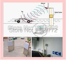 2pcs/lot RFID Vehicle car bus access Control long range 1-15m passive uhf rfid antenna reader with windshield tag card sample