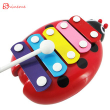 children toy musical Toys Wisdom keyboard instrument educational toys with 5 key type for kids boys girls baby musical toys(China)