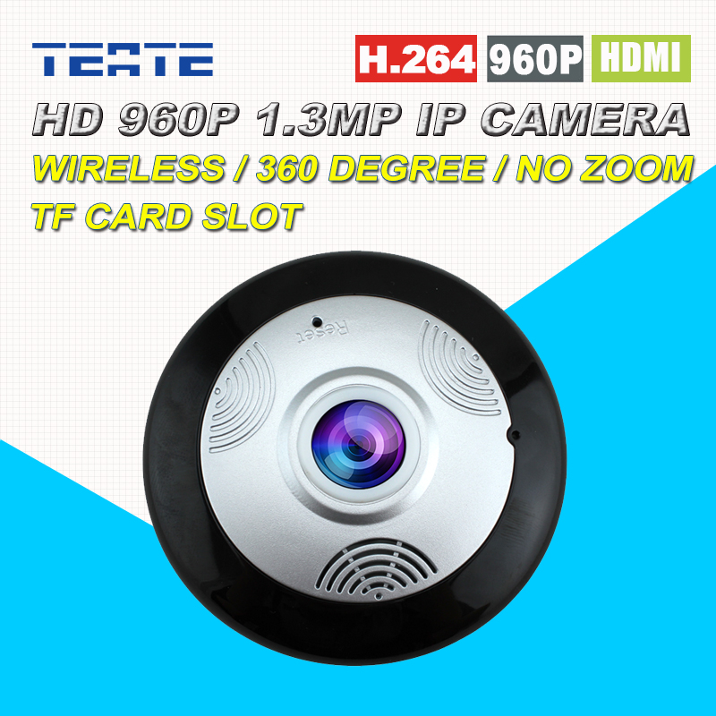 Security and Monitoring 360 Panoramic HD IP Camera in 960P 1.3MP Wireless Wifi Remotely View by P2P <br>