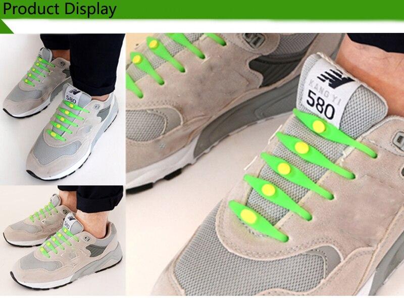 12pcslot Round No Tie Shoelaces Elastic Silicone Shoe Lace Multicolor Design Unisex Women Athletic Running For Shoes (15)