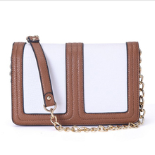 Brand Fashion Woman Bag Promotional Ladies luxury PU Leather Handbag Feminina Chain Shoulder Bag Patchwork Women Crossbody Bag