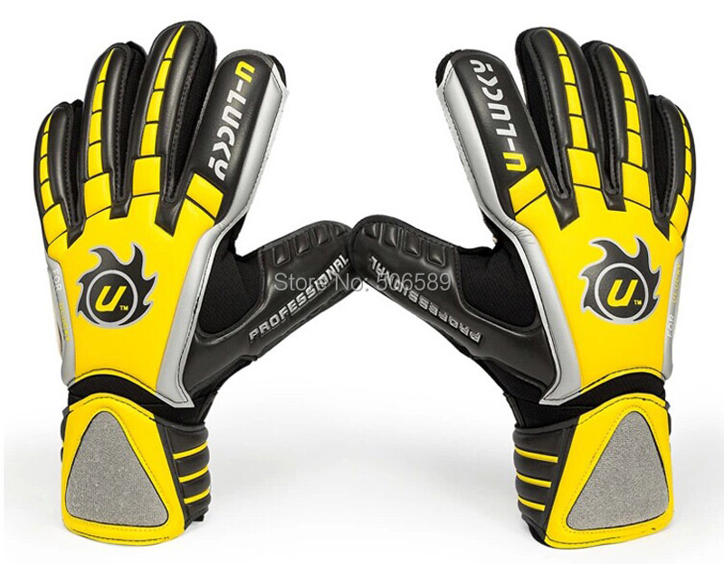 free shipping goal keeper gloves full latex without finger protection no 8 no 9<br>