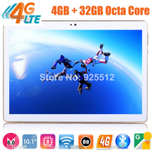 2017 Best New 4G FDD LTE Tablet 10 inch MTK8752 Octa Core 4GB RAM 64GB ROM Dual SIM Cards Android 6.0 GPS Tablet 10 10.1