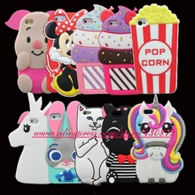 For iphone 4 4S Hot Cupcake Unicorn Cat Pig Minnie Lion Cartoon Soft Cell phone Case Cover for iphone4S 4