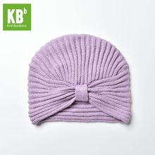 2017 KBB Spring 5 Colors Winter New Style Comfy Purple Striated Designer Yarn Knit Women Delicate Winter Hat Beanie Female Cap(China)