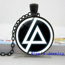 NS-00562 New Fashion Linkin Park logo Pendant Linkin Park Jewelry Necklace Glass Dome Pendant HZ1(China)