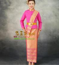 2017 New Fashion classic style Thai Waiter uniform Woman Attendant uniform