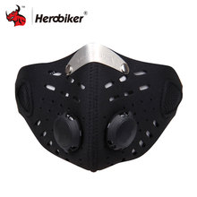 HEROBIKER Bike Mask Ski Helmet Balaclava Super Anti Dust Motorcycle Bicycle Cycling Racing Bike Ski Half Face Mask Filter(China)