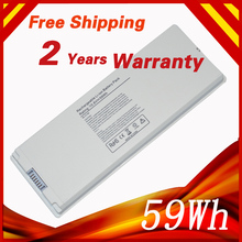 "59Wh 10.8V Laptop Battery for Apple MacBook 13"" A1181 A1185 MA561 MA566 MA566J/A MA566FE/A MA255 MA472 MA699 MA700 MA701 white(China)"