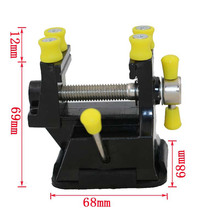 Mini DIY Aluminium Alloy Adjustable Engraving Table Bench Vise Press Clamp Carving Fixture polishing Bench Drill Repair Tool