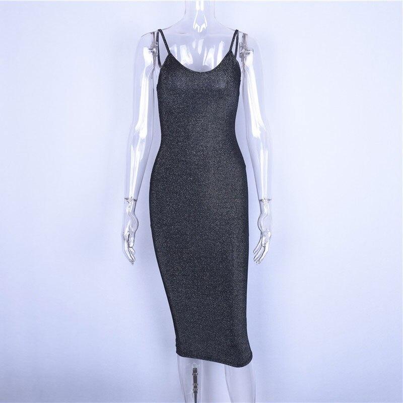 Hugcitar spaghetti straps slash neck backless sexy long dress 18 women high waist bodycon elegant fashion party dresses 12