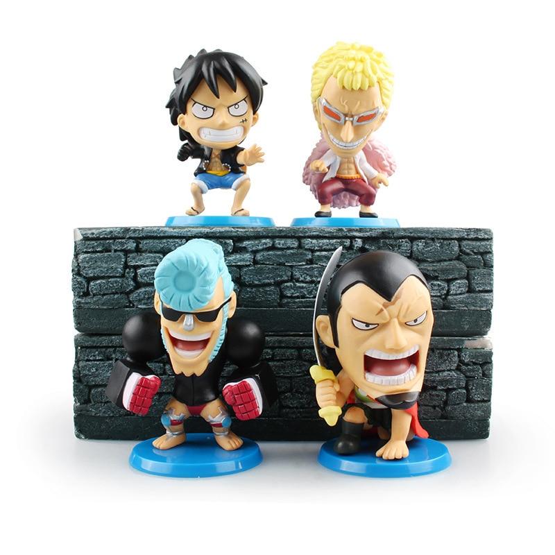 SAINTGI  One Piece Franky Donquixote Doflamingo Luffy New World Anime Figuarts Zero Trafalgar PVC 9.5CM Boxed Limit Garage Toy<br>