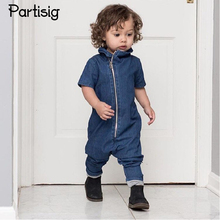 2017 Baby Boy Clothes Cotton Denim Baby Boy Romper Jeans Infantil Overall Summer Cowboy Baby Clothing Bebe De Roupa