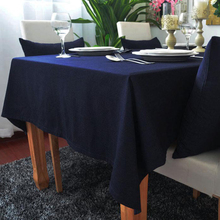 USPIRIT 100% Cotton Tablecloth Pure Color Tablecloth For Wedding Stain Hot Selling Dust Proof Cloth Decorative Table Cloth