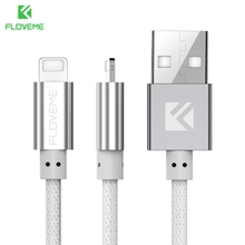 FLOVEME USB Charger Cable For iPhone 7 7 Plus 6 6S Plus Cable Lighting Charging Data Line For iPhone X 8 Plus For iPad Mini 2 3(China)