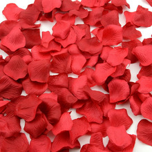 OurWarm 500pcs Rose Petals Wedding Decoration Silk Bridal Flowergirl Basket Fake Flower Festival Party Table Confetti Decoration(China)