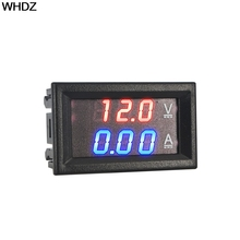 Digital Voltmeter Ammeter DC 100V 10A Red Blue LED Dual Voltage Amp Panel Guage Car Current Monitor Tester 4.5-30v Voltage Meter(China)