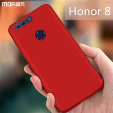Honor 8 case cover with tempered glass screen protector 360 degree full cover complete huawei honor 8 case blue capa coque funda