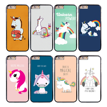 Coque Cartoon Rainbow Unicorn Capa Phone Cases for iPhone X 8 8Plus 7 5S 6 6S 7 Plus SE 5C 5 4S 4 Case for iPod Touch 6 5 Cover.