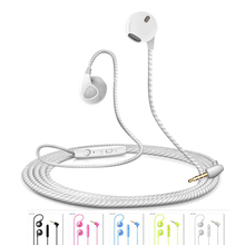 Earphones Wired In-ear Earbuds with Microphone Stereo Headset For Apple Huawei Sony Samsung HTC LG Motorola moto Lenovo Redmi