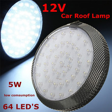KAKUDER 1Pc White 12V 46-LED Car Vehicle Interior Indoor Roof Ceiling Dome Light Lamp zz18 dropship(China)