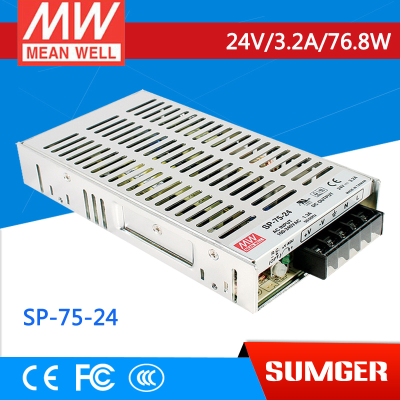 [SumgerT6] MEAN WELL original SP-75-24 24V 3.2A meanwell SP-75 24V 76.8W Single Output with PFC Function Power Supply<br><br>Aliexpress