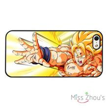 Dragon Ball Z Super Saiyan Power back skins mobile cellphone cases for iphone 4/4s 5/5s 5c SE 6/6s plus ipod touch 4/5/6(China)