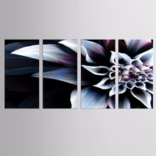 Framed 4 Piece Picture Flower Vase Canvas Art Print Oil Painting Wall Pictures for Living Room Paintings Home Decoration(China)
