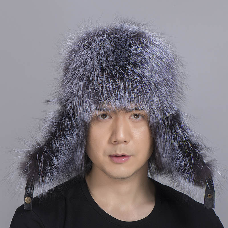 big fur hat silver fox fur 2