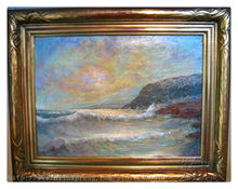 Ocean waves oil painting Impression Seascape Oil painting  seaside on canvas hight Quality Hand-painted Painting 2