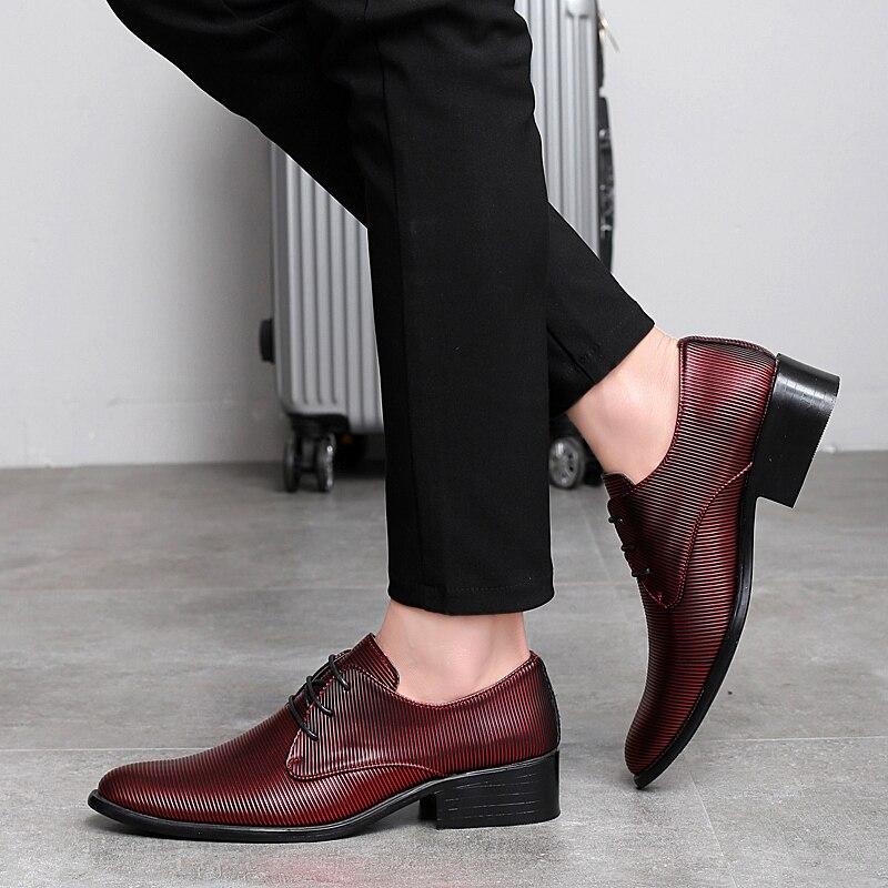 designer striped shoes men luxury brand fashion camouflage italian pointed male footwear designer man dress oxford shoes for men (29)