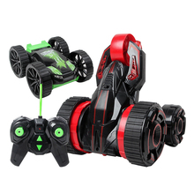 RC Car 6CH 5 Wheels Spinning Buggy Cars Fast 360 Rotation Crawlers RC Drift Flashing Stunt Car Remote Control Car Toys For Kid(China)
