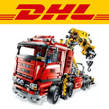Lepin New 1877pcs Technic Ultimate Mechanical Series The Electric Crane Truck Set Building Blocks Bricks Funny Gifts Toys 8258