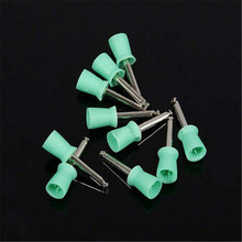 New 100PCS Dental New Latch type Polishing Polisher Prophy Rubber Cup Green Color
